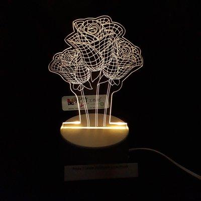 現貨 LED小夜燈 三光源-三朵花