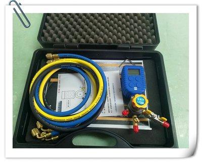 金山3C配件館 數位式(電子式)雙閥低壓三抽式單錶工具組 壓力測量 抽真空 冷煤填充 壓力錶 冷煤錶 暫壓錶