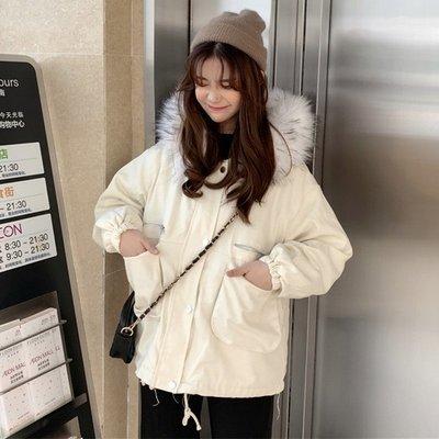 棉衣女中長款冬新款韓版ins寬松加厚保暖大毛領外套潮