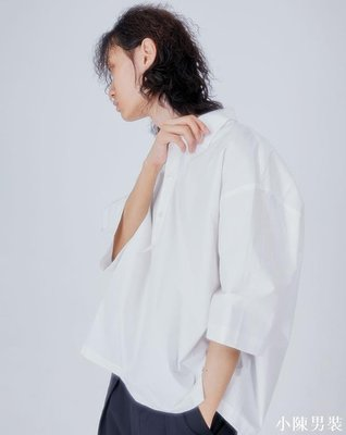 韓國代購19SS box-fit 1/2 shirts (2 color) 寬松風半袖襯衫上衣 低價 批發