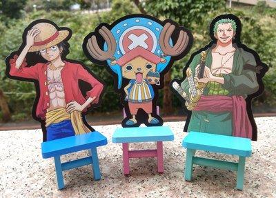 【卡漫迷】 航海王 手機座 木頭 三款選一 ㊣ iPhone座 擺飾品 One Piece 魯夫 喬巴 索隆 裝飾 海賊