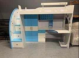 Dream兒童鋼琴烤漆書桌+衣櫃+床架組 床架 衣櫃 置物櫃 收納櫃 A2059-予新傢俱