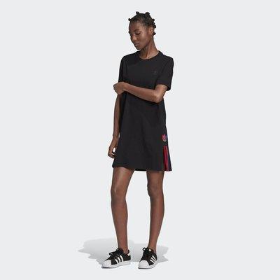 沃皮斯§ ADIDAS ORIGINALS ADICOLOR 黑色 洋裝 女款 GD2233
