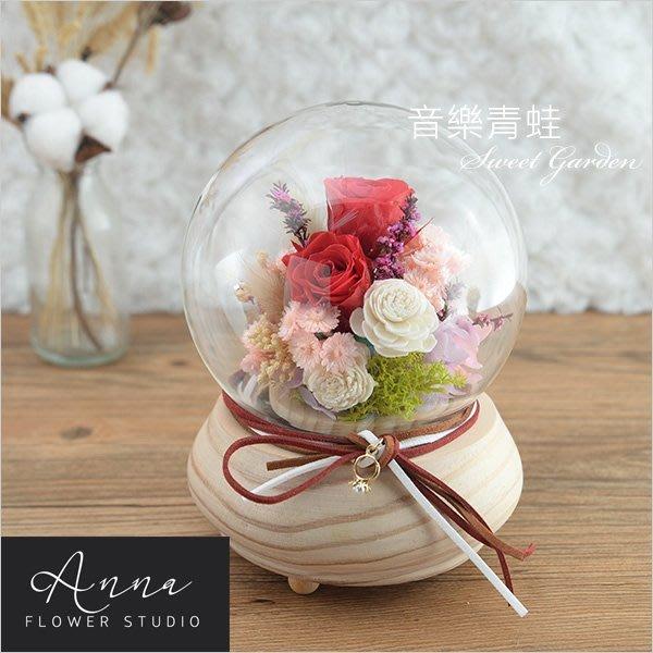 Sweet Garden, 美女與野獸 紅玫瑰永生花旋轉音樂盒(台中自取) 情人節禮物 新春賀禮 文青設計商品