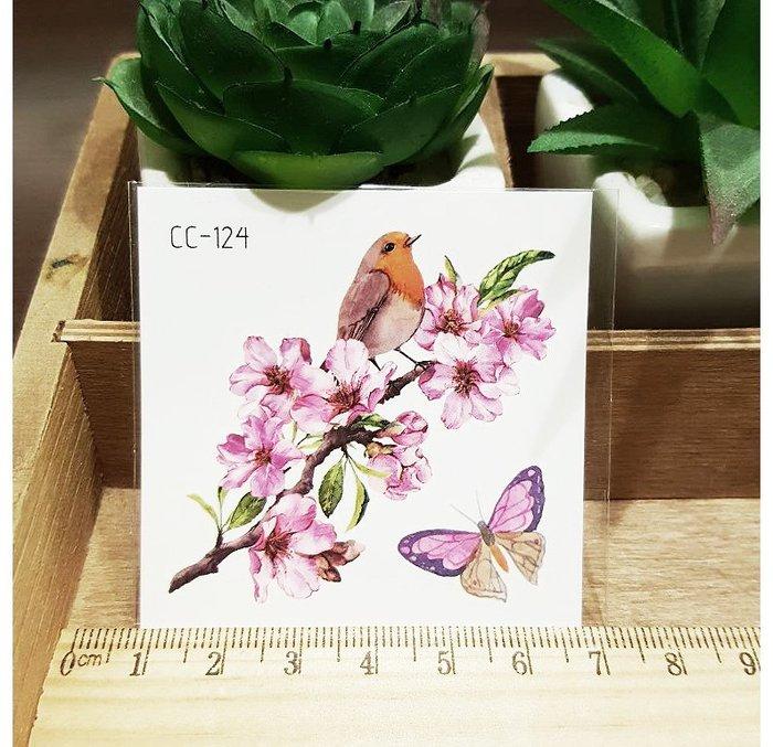 【萌古屋】花朵單圖CC-124 - 防水紋身貼紙刺青貼紙K38