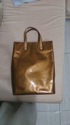 正品 內有序號 經典圖紋 金色 漆皮 提包 法國製造  原價9萬多