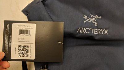 全新未拆 Arcteryx Brize 25 backpack 深藍色 標籤尚在