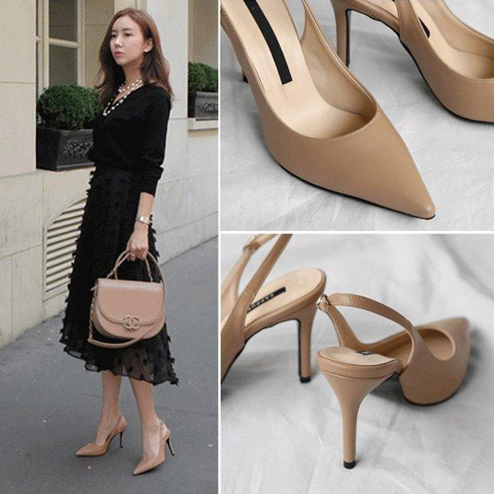 Modem Girl♥100%實拍 OL必備 質感 好穿優雅高跟鞋 久站款 34-40號 (皮質款)