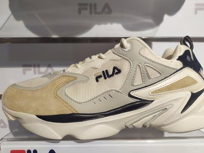 FILA SKIPPER 中性慢跑鞋-奶茶色 4-J528T-734男女