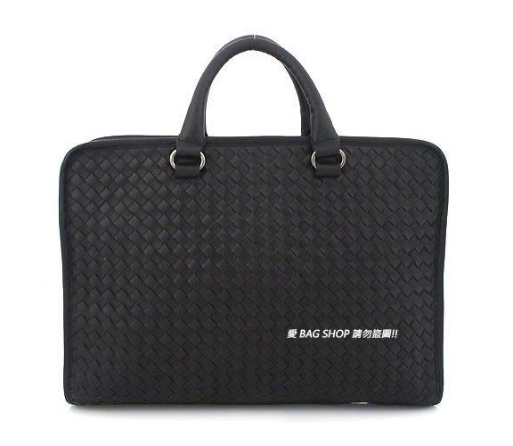愛 BAG SHOP 韓國空運 OMNIA 型男款 高質感  編織 BV款 真牛皮革 休閒/公事包 4490 預購