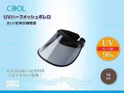 【WF590161】日本 99%抗UV防曬帽/遮陽帽 帽簷-16cm《Midohouse》