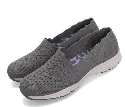 =E.P=Skechers  Seager-Stat 灰 透氣鞋面 花邊 女鞋 健走鞋 休閒鞋 49481GRY