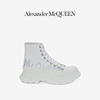 ALEXANDER MCQUEEN/亞歷山大麥昆 2021秋冬女士Tread Slick系帶靴 3854SD