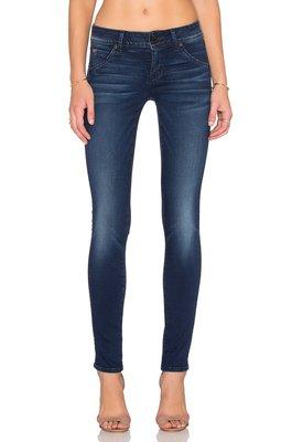 ◎美國代買◎hudson collin skinny in contrary wash膝刷白偏深藍色波紋的合身牛仔褲