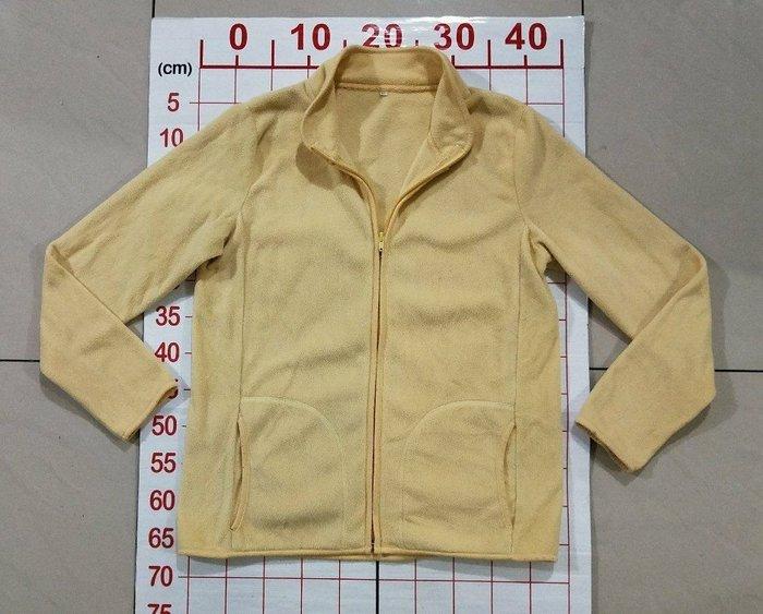 淡黃色搖粒絨長袖保暖外套