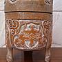 ⭐金壽藝品⭐ 竹雕香爐 木雕璃龍如意三足爐