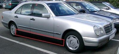 台中bbcar BENZ W210/1999年5月前出廠 前後葉子板+車門下膠條橡皮1車份8片含公母扣子德國原廠