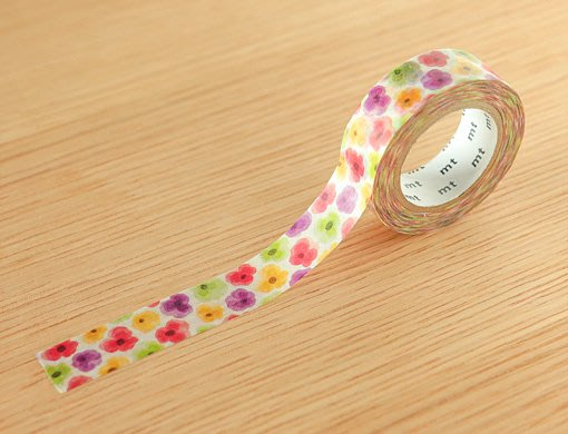 《散步生活雜貨-和紙膠帶》 日本mt ex系列 .三色堇 紙膠帶 15mm 單捲-MTEX1P149