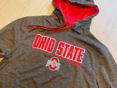 JFK  NCAA  俄亥俄州立大學 七葉樹隊Ohio State Buckeyes正品帽T 灰底/LOGO配色