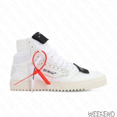 【WEEKEND】 OFF WHITE Off Court 3.0 高筒 麂皮 休閒鞋 全白色 20春夏