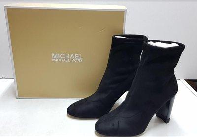 全新Michael Kors(黑色)彈力短靴 Mk襪靴 中筒靴尺吋US7 /邁可·寇斯 高跟女鞋 現貨在台灣