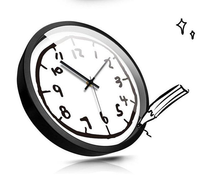 摩門可愛卡通掛鐘兒童房幼兒園教室超靜音時鐘錶臥室簡約圓形掛錶