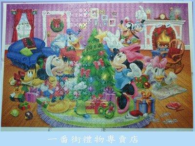一番街禮物專賣店*新鮮貨*米奇米妮過聖誕/1000片已拼好拼圖含框~單件價-最佳歡樂禮物^^