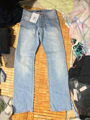 Nudie  average joe 全新含牌 義大利製 牛仔褲 有機棉 直筒 30w 34L (diesel replay levis 可參考)