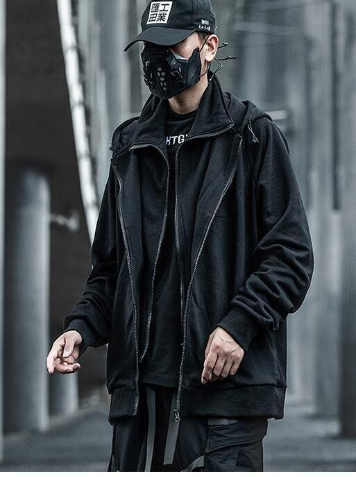 FINDSENSE X 男士 假兩件夾克男潮流少年寬松港風潮牌上衣外套
