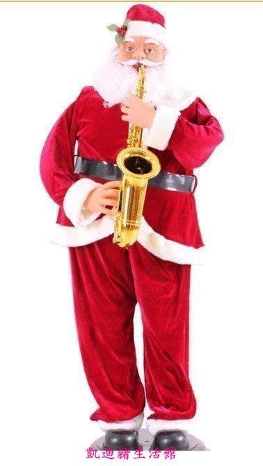 【凱迪豬生活館】聖誕 1.8米唱歌搖擺跳舞 聖誕電動老人 吹薩克斯聖誕老人 1.8米電動老人180CM聖誕老人KTZ-200888