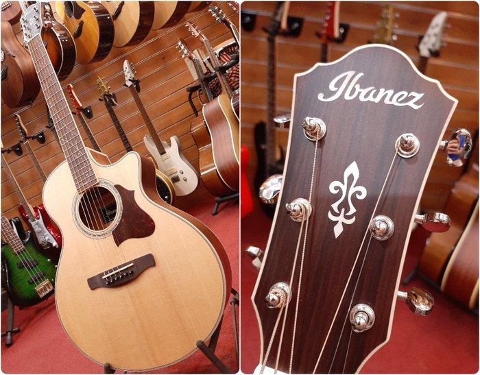 ♪學友樂器音響♪♪ Ibanez AE205JR 旅行吉他 38吋 電木吉他 雲杉面單板