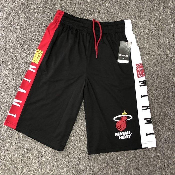 NBA籃球短褲 邁阿密熱火隊 Dwyane Wade 口袋版 運動籃球褲 正版