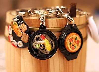 ~仿真食玩 泡菜 燒肉 美食早餐 石鍋拌飯 水果蛋糕 鑰匙圈 正韓空運 Mini Plus~~YOOWOO~