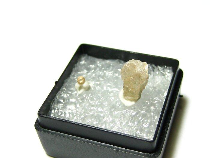 【Texture & Nobleness 低調與奢華】天然彩色藍寶石 教學標本&原礦 橘色藍寶石組 SO-01