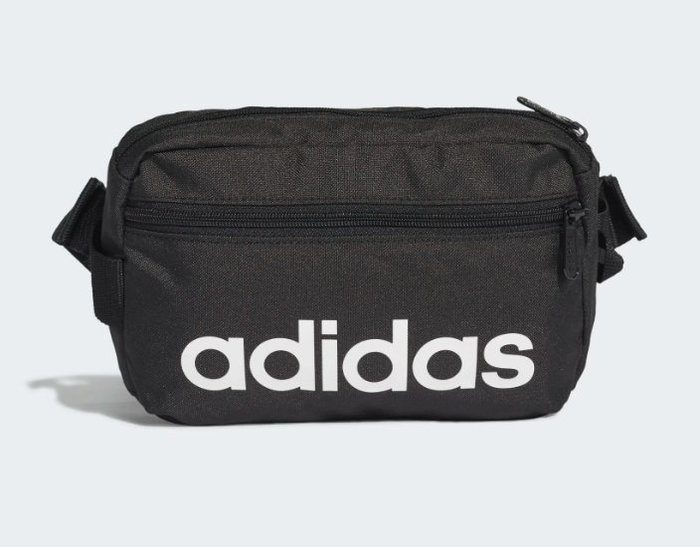 ADIDAS LINEAR CORE WAIST BAG 運動腰包 斜背包 黑色 RUNNING DT4827