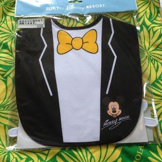 Ariel's Wish-日本迪士尼阿卡將米奇小手紳士禮服燕尾服離乳學習用餐軟布收納圍兜兜BABY滿月彌月周歲禮-日本製