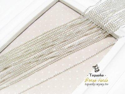 串珠材料˙項鍊配件 黃銅鍍保色銀切面珠鏈條一份1M【DA98】粗1.5mm飾品鍊條鏈子DIY《晶格格的多寶格》
