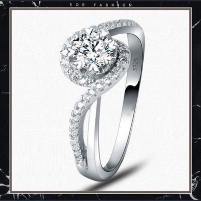 (促銷價非活動價)EOS 時尚精品  925純銀50分日系風時尚設計師款求婚戒結婚戒 婚禮攝影 特價服飾女裝流行飾品