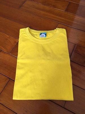 台灣製 棉T 素色 潮流 設計 T恤 潮TEE 黃色 特價優惠