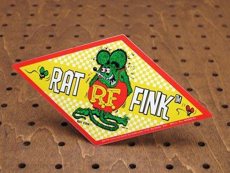 (I LOVE樂多)原版RAT FINK Checker Decal菱型經典貼紙 防水 耐候
