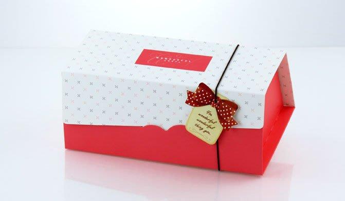 【嚴選SHOP】20cm 生乳捲蛋糕盒 彌月蛋糕盒 蛋糕捲紙盒 奶凍捲盒 包裝盒 附吊卡+船盒+彈性繩【C024】