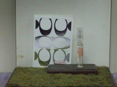 @戀戀針管--Coach Signature 同名 女性淡香水1.5ml 噴式針管香水