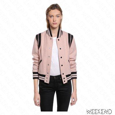【WEEKEND】 SAINT LAURENT Classic Teddy YSL 經典 外套 夾克 粉色 17秋冬新款