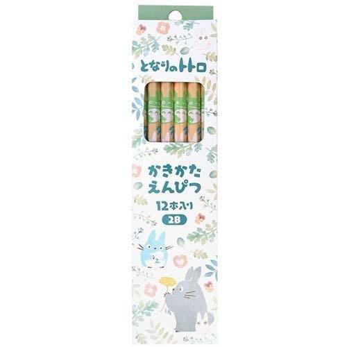 日本製 Totoro 龍貓 豆豆龍 宮崎駿 吉卜力 六角軸 2B 鉛筆12入組