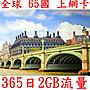 【杰元生活館】全球 65國 365日2GB流量 亞洲...