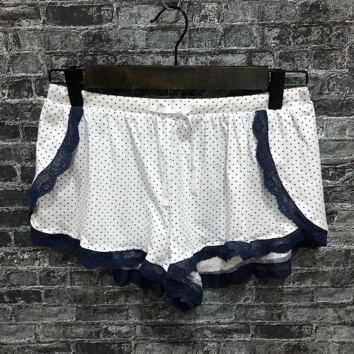 Maple麋鹿小舖 美國購買JOE'S * 白色藍點點蕾絲短褲/睡褲 * ( 現貨XS號 )
