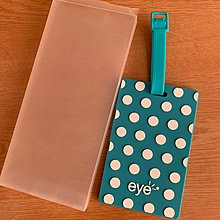 Eyes 行李牌 Luggage Tag baggage tag dot 柄 波點 tiffany blue