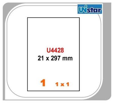 【量販10盒】裕德 電腦標籤 1格 US4428 三用標籤 列印標籤 量販型號可任選
