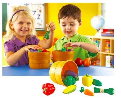 【晴晴百寶盒】美國進口 蔬菜籃 創意辦家家酒 可愛益智玩具 益智遊戲 送禮禮物禮品 創意寶寶早教益智遊戲 W409