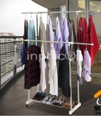 INPHIC-不鏽鋼伸縮雙桿晾曬架可升降衣架曬被架